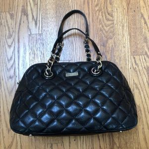Kate Spade Quilted Black Leather shoulder bag